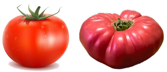 supermarket and pink tomato