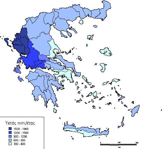 Βροχοπτώσεις στην Ελλάδα