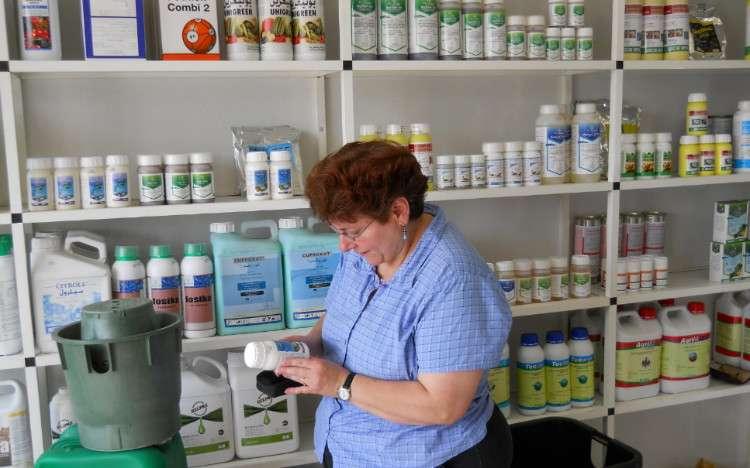Pesticide shop interior